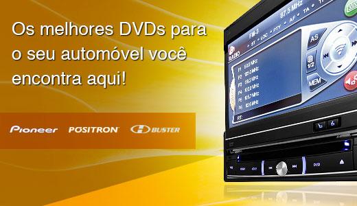 DVDs automotivos, buster, pioneer, positron